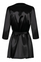 Obsessive - Satinia Robe - Black - L/XL photo