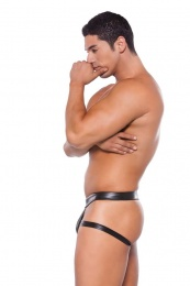 Allure - Wetlook Brief Style Jock - Black photo