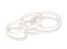 CEN - Rubber Ring - 3 Piece Set - White photo