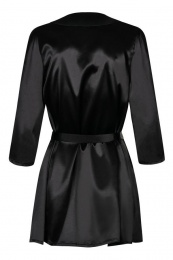 Obsessive - Satinia Robe - Black - XXL photo