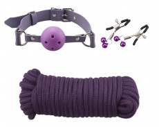 MT - Slave Training Bondage Set - Purple & Black photo